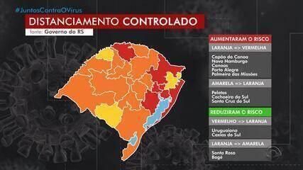 Porto Alegre e mais quatro regiões entram na bandeira vermelha