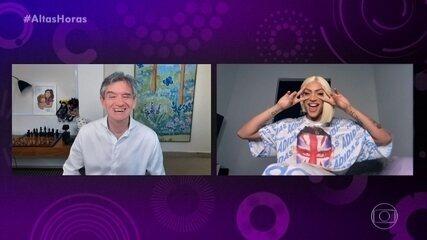 Serginho Groisman conversa por vídeo com Pabllo Vittar