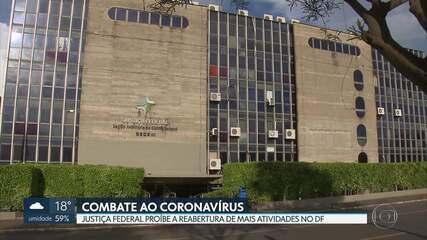 GDF recorre contra decisão da Justiça Federal que proibiu a reabertura de mais atividades