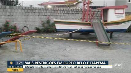 Porto Belo e Itapema fecham estabelecimentos comerciais durante a madrugada