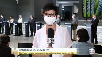 Estado de SP bate novo recorde com 434 mortes por coronavírus nas últimas 24 horas