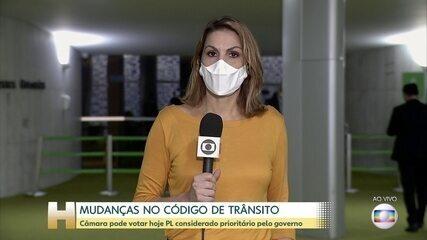 Câmara pode votar agora à tarde projeto que reformula o Código de Trânsito Brasileiro