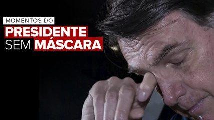 Veja momentos do presidente Jair Bolsonaro sem máscara no Distrito Federal