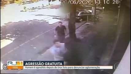 Homem é agredido após registrar aglomeração em frente a loja no Jardim Botânico