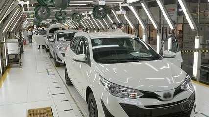 Funcionários da Toyota voltam ao trabalho nas fábricas de Sorocaba e Porto Feliz