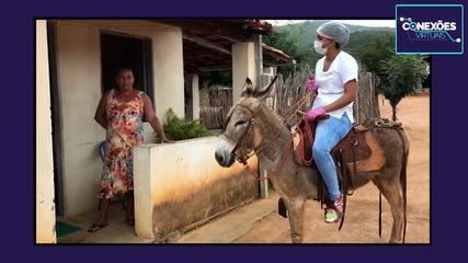 Enfermeira conta como atende moradores das zonas rurais da Chapada Diamantina
