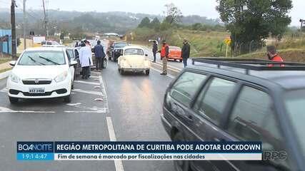 Região Metropolitana de Curitiba pode adotar o lockdown