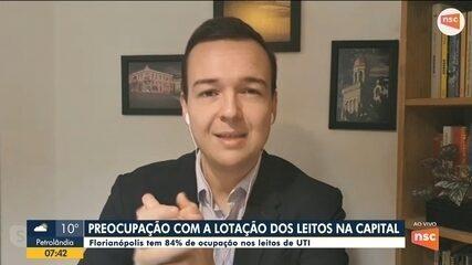 Florianópolis chega a 84% de ocupação nos leitos de UTI