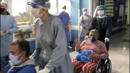 Nove pacientes se recuperam da Covid-19 e recebem alta no Hospital do Rocio