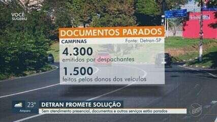 Detran de Campinas tem seis mil documentos parados por conta da suspensão dos serviços