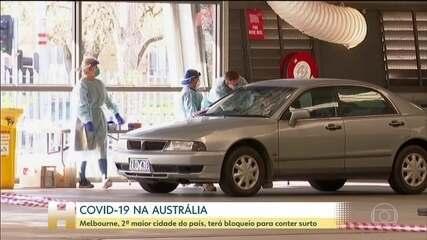 Segunda maior cidade da Austrália impõe bloqueio por causa de surto de coronavírus
