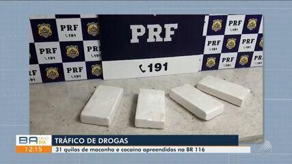 PRF apreende drogas em três ônibus que passaram pela região de Conquista nas últimas 24h
