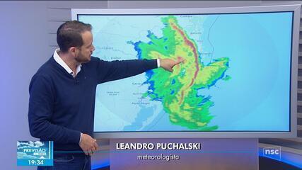 Leandro Puchalski fala da previsão do tempo para SC