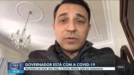 Governador Carlos Moisés testa positivo para o novo coronavírus