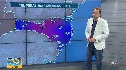 Veja a previsão do tempo para esta quinta-feira em Santa Catarina