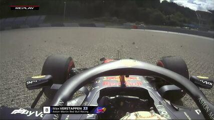Max Verstappen escapa, vai na brita, mas consegue voltar ao treino livre para o GP da Áustria
