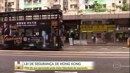 ONU se preocupa com nova lei de segurança de Hong Kong