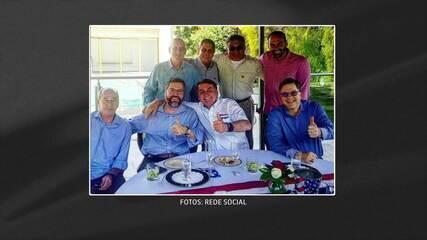 Sem máscaras, Bolsonaro e ministros se reúnem com embaixador americano