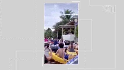 Live do Harmonia do Samba tem aglomeração de banhistas; veja o flagrante