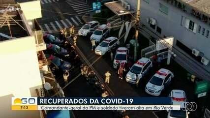 PMs se recuperam da Covid-19 e recebem homenagem em Rio Verde