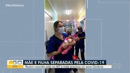 Mãe e filha são separadas pela Covid-19