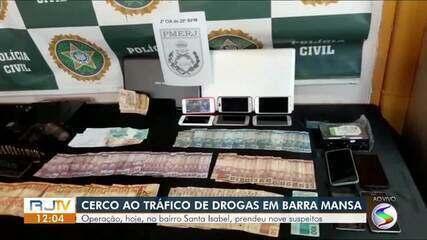 Nove homens são presos em operação de combate ao tráfico de drogas em Barra Mansa