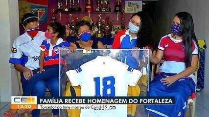Fortaleza homenageia Seu Chico, torcedor do time vítima da Covid-19