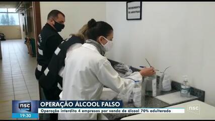 Polícia Civil e Procon interditam fábricas de álcool em gel irregulares