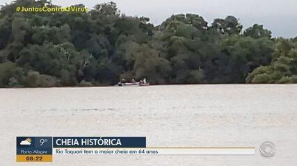 Após passagem de ciclone extratropical, preocupação é a cheia dos rios no RS