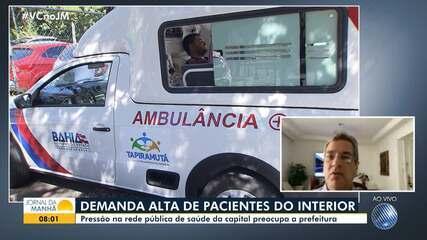Covid-19: Unidades de saúde da capital recebem grande número de pacientes do interior