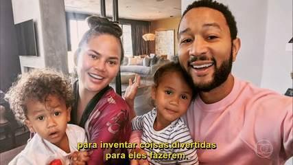 John Legend derrete-se pela esposa Chrissy Teigen no 'Conversa'