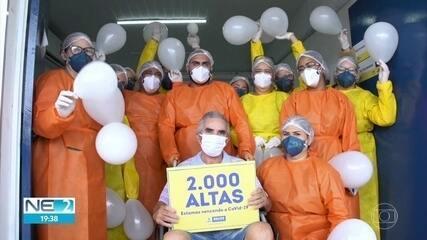 Recife chega ao número de 2 mil altas de pacientes com a Covid-19