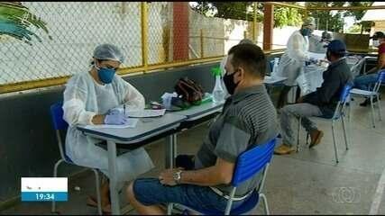 Profissionais fazem testes rápidos e se preparam para volta às aulas em Araguaína