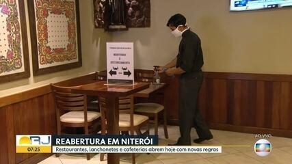 Niterói reabre restaurantes, lanchonetes e cafeterias a partir desta segunda (13)