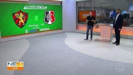 Pernambucano volta domingo com clássico na TV Globo; veja situação dos clubes