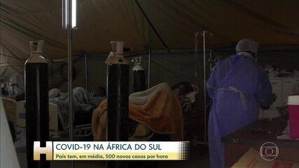 África do Sul registra, em média, 500 novos casos de Covid-19 por hora