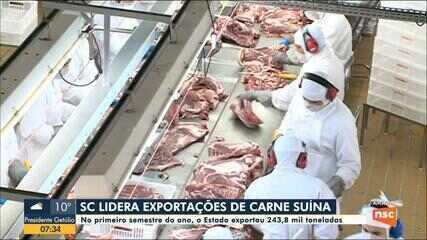 SC exporta 243,8 mil toneladas de carne suína