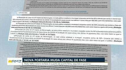 Nova portaria muda Porto Velho de fase no plano de Ação do Governo