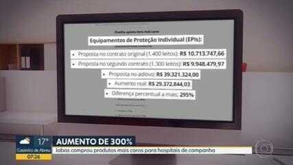 Controladoria-Geral do RJ encontra aumentos de quase 300% em itens comprados para hospitais de campanha