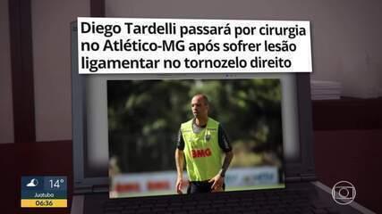 Diego Tardelli passará por cirurgia no tornozelo direito hoje