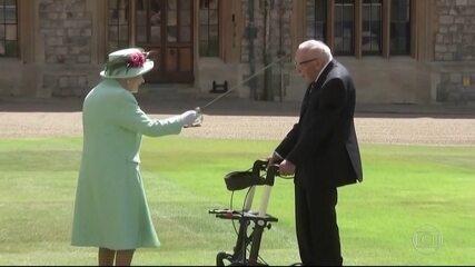 Rainha Elizabeth concede título de cavaleiro ao capitão de 100 anos que arrecadou milhões