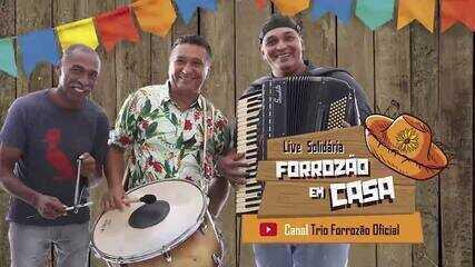 Trio Forrózão comemora 30 anos de história em live solidária neste sábado (25)