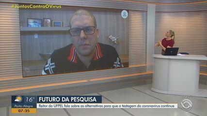 Reitor da UFPel comenta futuro da pesquisa que monitora avanço do coronavírus no Brasil