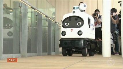 Companhia ferroviária lança robôs para ajudar na limpeza dos ambientes, no Japão