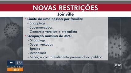 Joinville publica decreto com novas medidas restritivas; veja