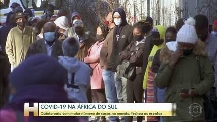 África do Sul fecha escolas públicas em meio à aceleração do número de casos de Covid-19