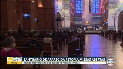 Santuário de Aparecida retoma missas abertas