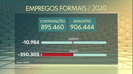 Brasil fecha 1,19 milhão de vagas de trabalho no primeiro semestre de 2020, diz governo