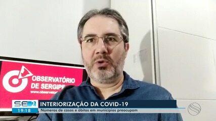 Interiorização da Covid-19 é registrada em Sergipe