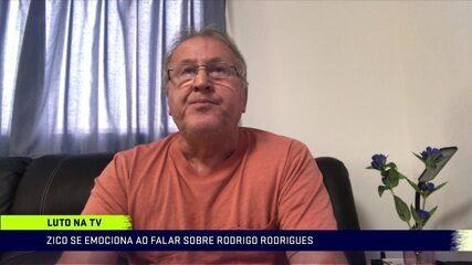 Emocionado, Zico relembra momentos com Rodrigo Rodrigues e se despede do apresentador